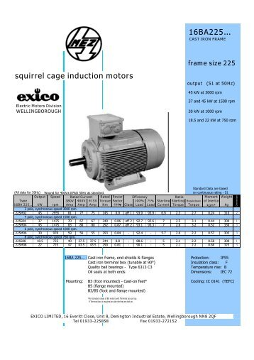 Three-phase Induction Motors (225 frame) - Rotor UK