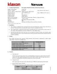 1. Technical Specification - Klaxon Signals Ltd.