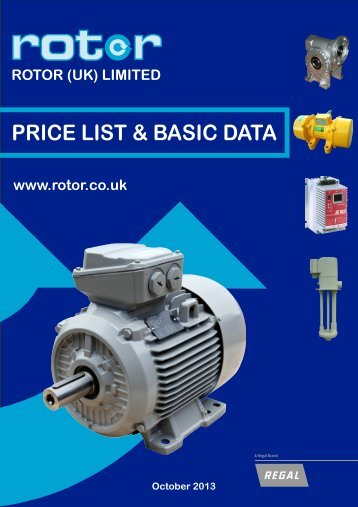 Download PRICE LIST & BASIC DATA - Rotor UK