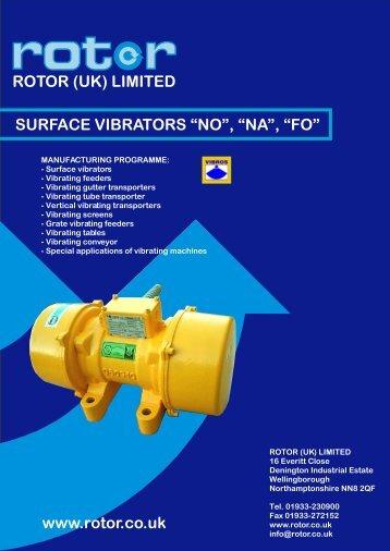 Vibrator Motors - Rotor UK