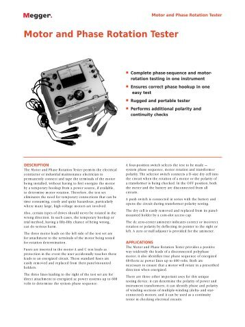 61 520 3 phase motor rotation tester instructions ideal for 3 phase motor rotation