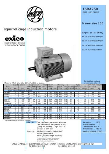Three-phase Induction Motors (250 frame) - Rotor UK