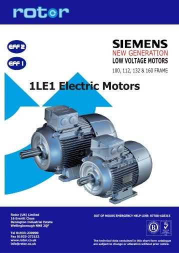Three-phase (eff1, eff2) motors - 1LE1 - Rotor UK