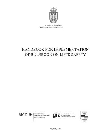 handbook for implementation of rulebook оn lifts safety