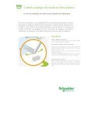 Controle analógico de tensão do filme plástico - Schneider Electric