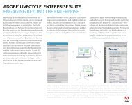 ADOBE® LIVECYCLE® ENTERPRISE SUITE ENGAGING BEYOND ...