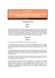 Rulebook on Electrical Equipment Designed for Use within Certain ...