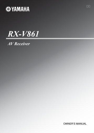 RX-V861 - Yamaha
