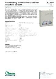 Transmisores y controladores neumáticos ... - Clorius Controls