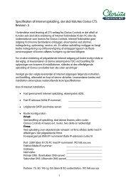 Specifikation af Internet opkobling, som skal ... - Clorius Controls