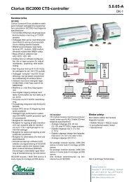 Clorius ISC2000 CTS-controller, 5.0.05 DK - Clorius Controls