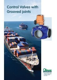 Control Valves with Grooved joints Control Valves ... - Clorius Controls
