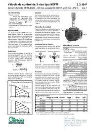 Válvula de control de 3 vías tipo M3FM, de hierro ... - Clorius Controls