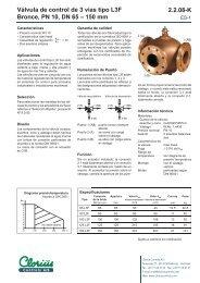 Válvula de control de 3 vías tipo L3F bronce ... - Clorius Controls