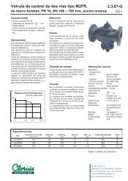 Válvula de control de dos vías tipo M2FR de ... - Clorius Controls