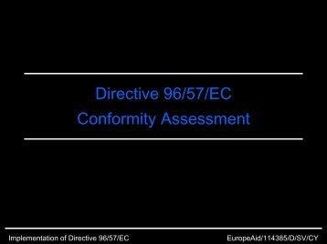 Directive 96/57/EC Conformity Assessment