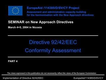 Directive 92/42/EEC Conformity Assessment