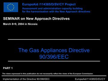 The Gas Appliances Directive 90/396/EEC