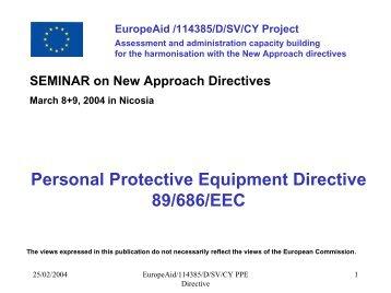 PPE DIRECTIVE 89/686/EEC