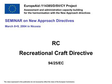 The Recreational Craft Directive