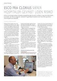 ESCO fra Clorius sikrer hospitaler gevinst uden ... - Clorius Controls