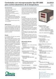 Controlador con microprocesador tipo ER 3000 ... - Clorius Controls