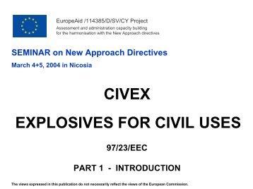 civex explosives for civil uses 97/23/eec part 1