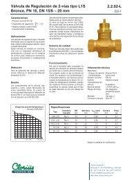 Válvula de Regulación de 2-vías tipo L1S Bronce ... - Clorius Controls
