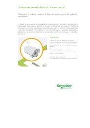 Armazenamento de dados de monitoramento - Schneider Electric