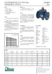 G2FR型两通调节阀,球墨铸铁制成反作用式, clorius ... - Clorius Controls