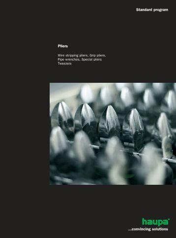 Standard program Pliers ...convincing solutions - Surgetek