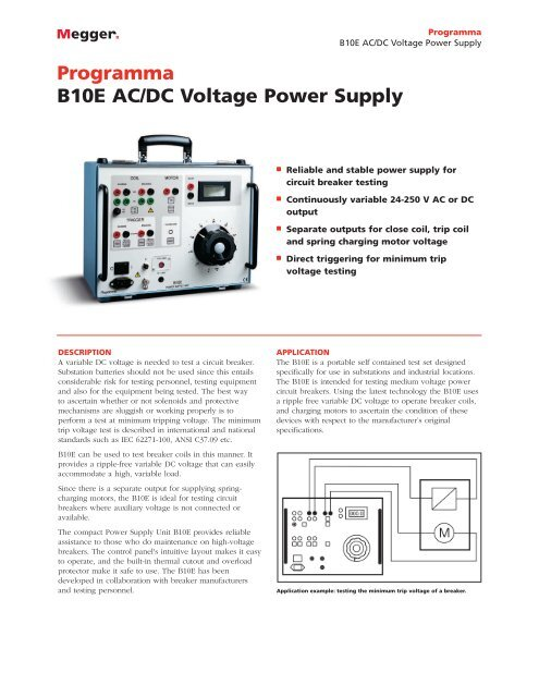 Programma B10E AC/DC Voltage Power Supply - Surgetek