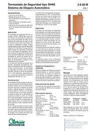 Termostato de Seguridad tipo SH4S Sistema de ... - Clorius Controls