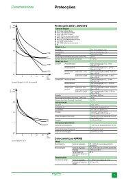 Características Sepam série 10 - Schneider Electric