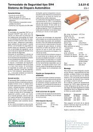 Termostato de Seguridad tipo SH4, Sistema de ... - Clorius Controls