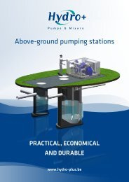 Above-ground pumping stations