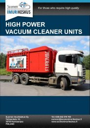 HIGH POWER VACUUM CLEANER UNITS - Suomen Imurikeskus Oy