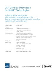 GSA Contract Information for SMART Technologies - The Chariot ...