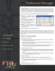 Data Sheet - Manager - front - The Chariot Group, Inc