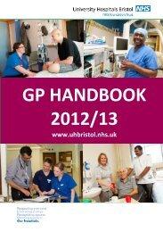 GP HANDBOOK 2012/13 - United Bristol Healthcare NHS Trust