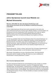 adrivo Sportpresse launcht neue Website von ... - adrivo media