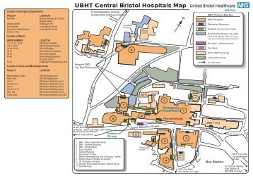 UBHT Central Bristol Hospitals Map - United Bristol Healthcare NHS ...