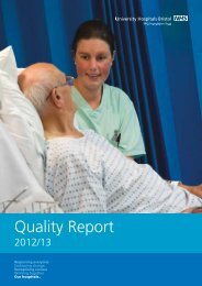 Quality report 2012-2013 - United Bristol Healthcare NHS Trust