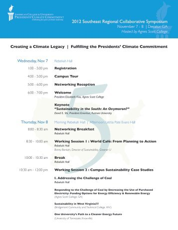 2012 Southeast Regional Collaborative Symposium - Climate ...