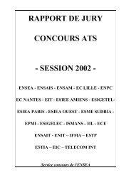 RAPPORT DE JURY - Concours ATS - Ensea