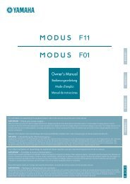 F11/F01 Ownerユs Manual - Yamaha