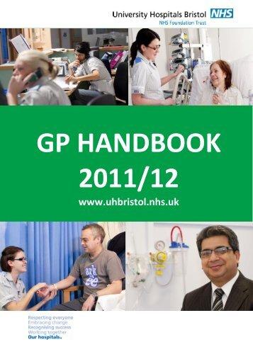 GP HANDBOOK 2011/12 - United Bristol Healthcare NHS Trust