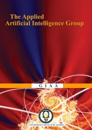 The Applied Artificial Intelligence Group The Applied Artificial ...