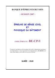 session 2007 - Concours ENSEA