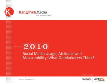 Social Media Usage, Attitudes and Measurability ... - King Fish Media